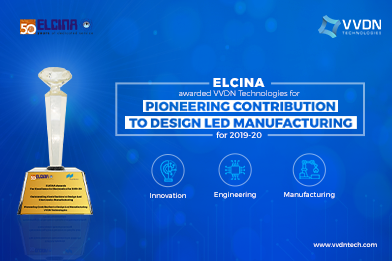"""VVDN awarded Special Jury Award for """"Pioneering Contribution to Design Led Manufacturing"""""""