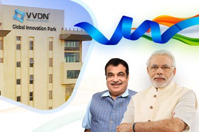 Nitin Gadkari inaugurates VVDN's Global Innovation Park (GIP); PM Narendra Modi sent his best wishes!